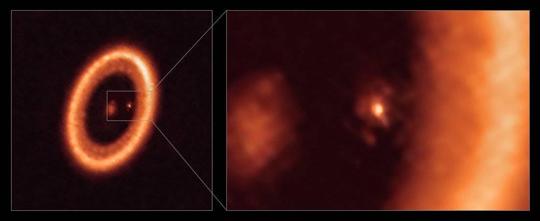 Formación de una luna cerca del exoplaneta PDS 70c