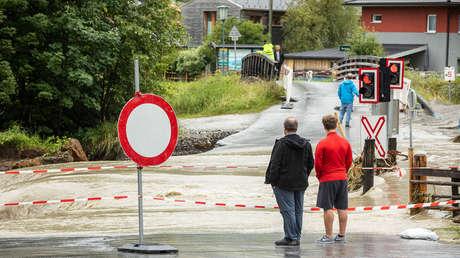 Ciudades inundadas, desprendimientos de tierra y carreteras destruidas: las fuertes tormentas causan estragos en Austria (VIDEOS)