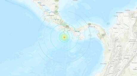 Se registra un fuerte sismo de magnitud 6,8 frente a la costa de Panamá