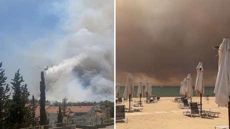 """VIDEOS: Escenas 'apocalípticas' de un incendio forestal """"sin precedentes"""" en Turquía que amenaza zonas residenciales"""