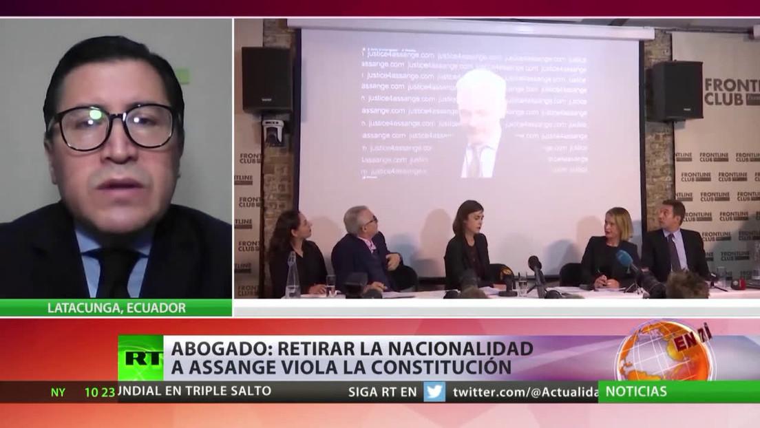 Abogados apelarán el retiro de la nacionalidad ecuatoriana de Assange