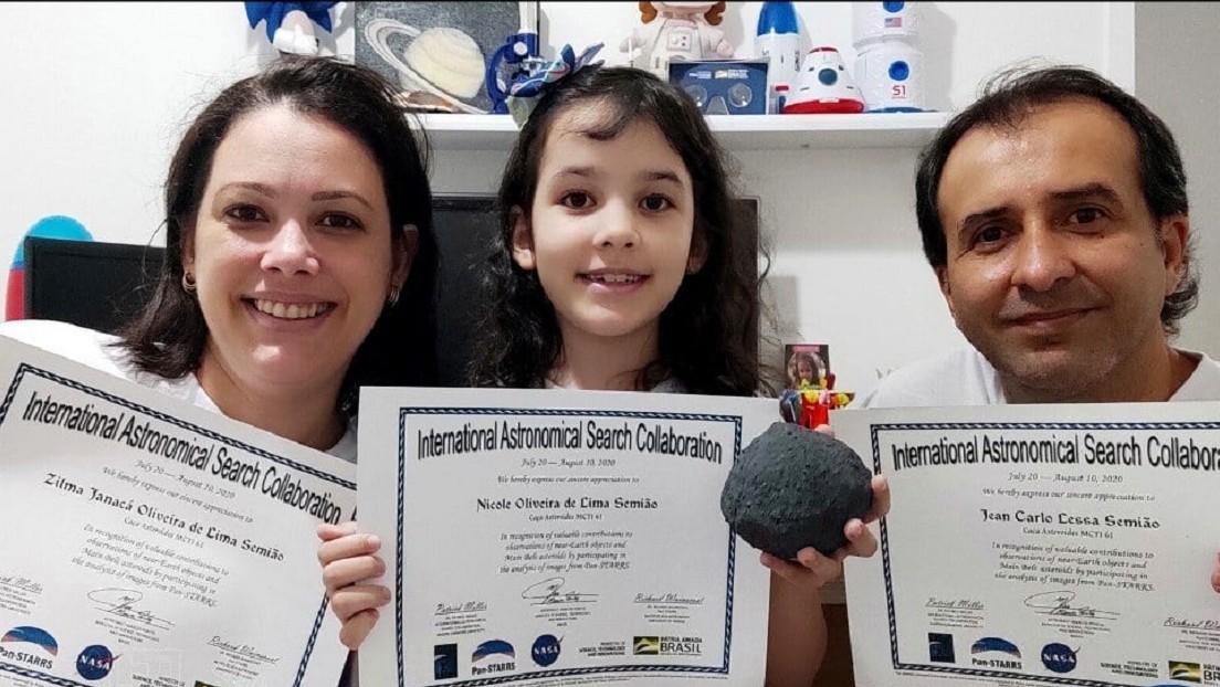 Una niña brasileña de ocho años observa siete asteroides y se convierte en la miembro más joven de la comunidad astronómica del país
