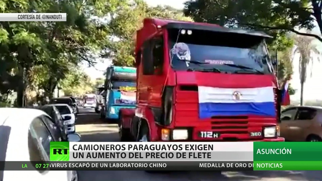 Paraguay: Camioneros exigen un aumento del precio del flete