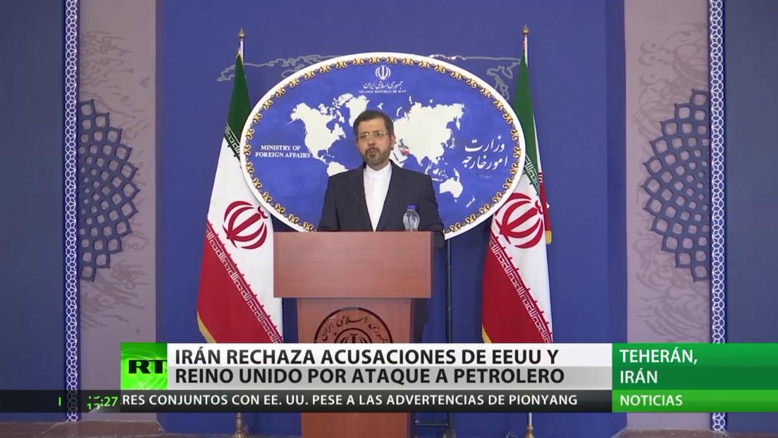 Irán rechaza las acusaciones de EE.UU., Reino Unido e Israel y niega que atacara con drones un petrolero