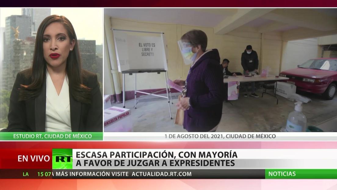 Consulta popular en México: escasa participación con la mayoría a favor de juzgar a los expresidentes