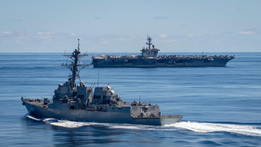 La Marina de Estados Unidos despliega por primera vez cazabombarderos F-35C de quinta generación