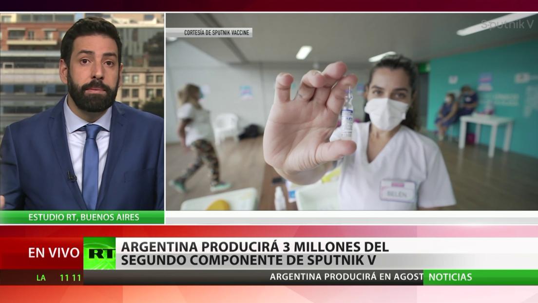 Argentina producirá 3 millones de dosis del segundo componente de la vacuna Sputnik V