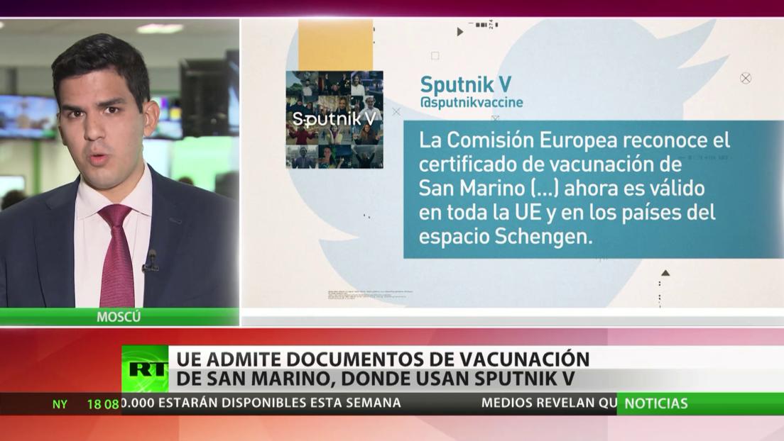 La UE admite certificados de vacunación de San Marino, donde utilizan la Sputnik V