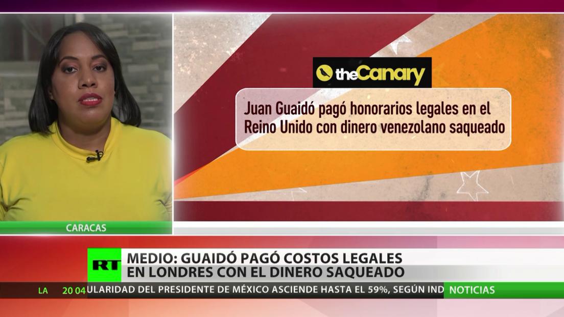 Medio: Guaidó pagó honorarios legales en Londres con el dinero saqueado del Banco Central de Venezuela por EE.UU.
