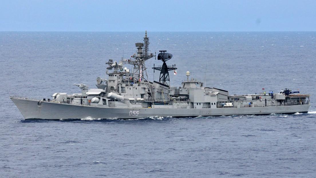 La Armada India despliega buques de guerra en el mar de la China Meridional