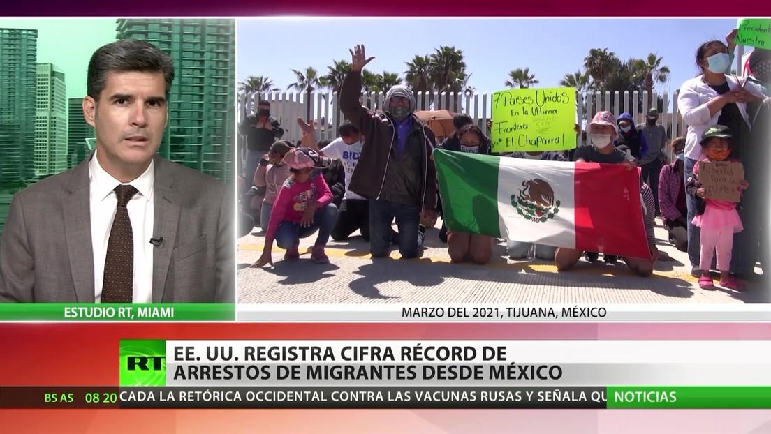 EE.UU. registra una cantidad récord de arrestos de migrantes desde México