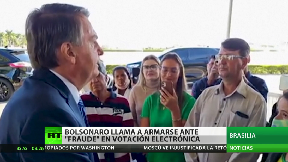 """Brasil: Bolsonaro llama a armarse ante un """"fraude"""" debido a la votación electrónica"""