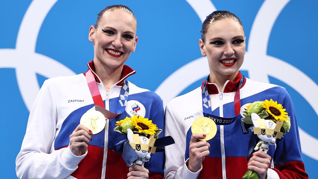 Las rusas Kolesnichenko y Romáshina ganan el oro en la final de dúos de natación artística en los JJ.OO. de Tokio