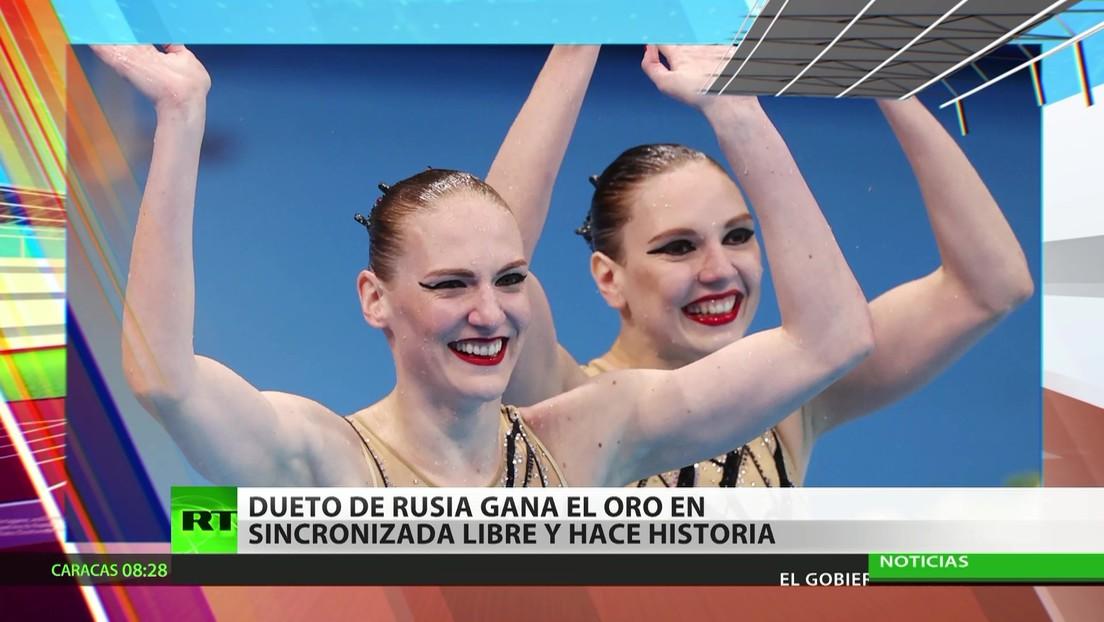 Dueto ruso de natación sincronizada gana el oro en los JJ.OO. y hace historia