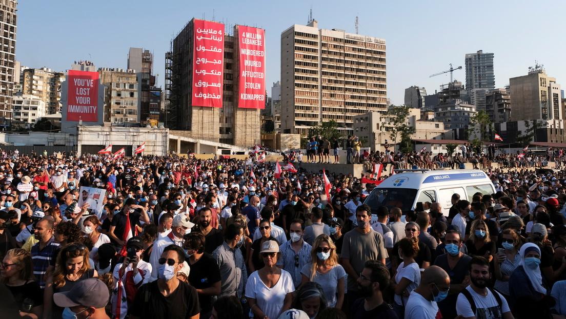 Beirut cumple un año de la trágica explosión en el puerto en medio de demandas de justicia (VIDEOS)