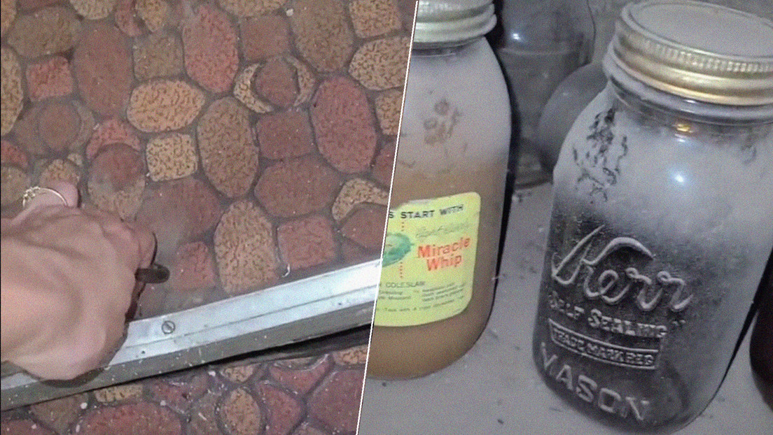 Mujer encuentra una antigua bodega repleta de comida debajo de su nueva vivienda