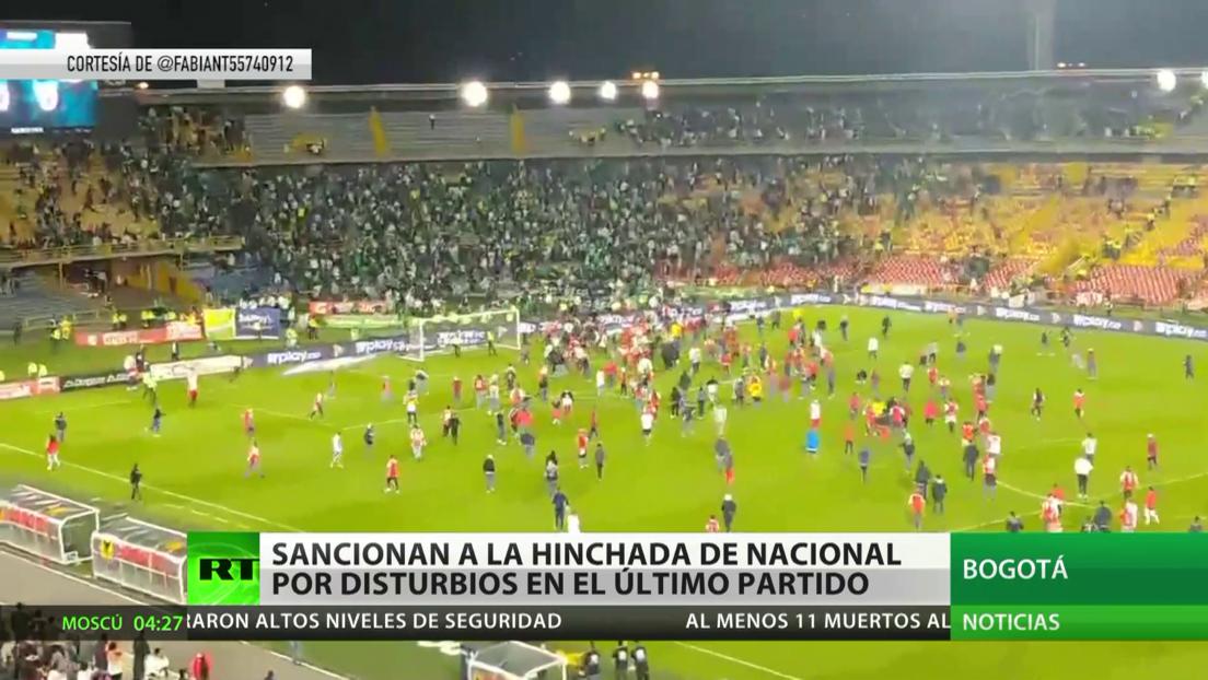 Colombia: Sancionan a la hinchada del Atlético Nacional por disturbios en el último partido