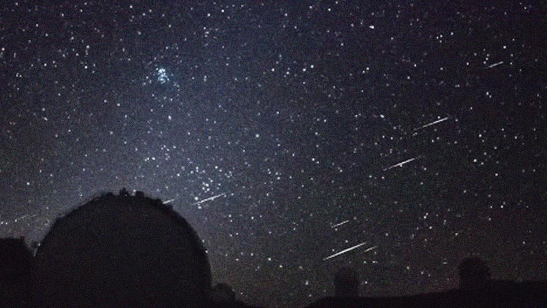VIDEO: Captan un raro cúmulo de meteoros durante una transmisión en vivo desde un observatorio en Hawái