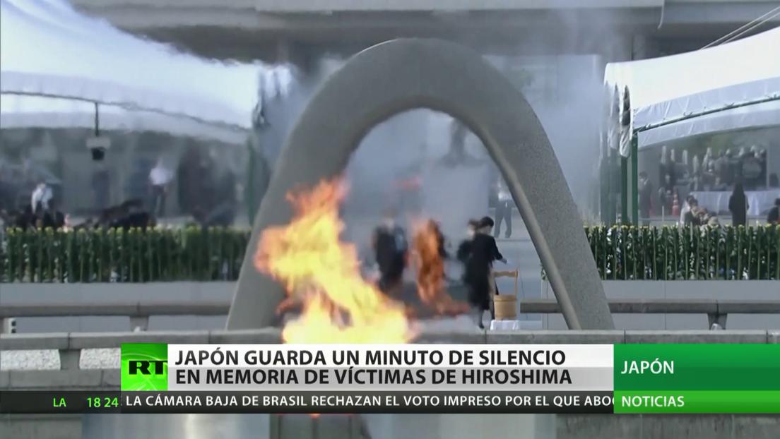 Japón guarda un minuto de silencio en memoria de las víctimas de Hiroshima