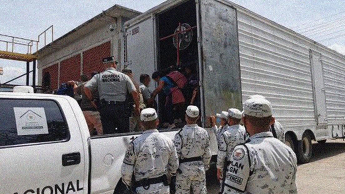 Autoridades rescatan a 63 menores y 30 adultos centroamericanos hacinados en un camión en México