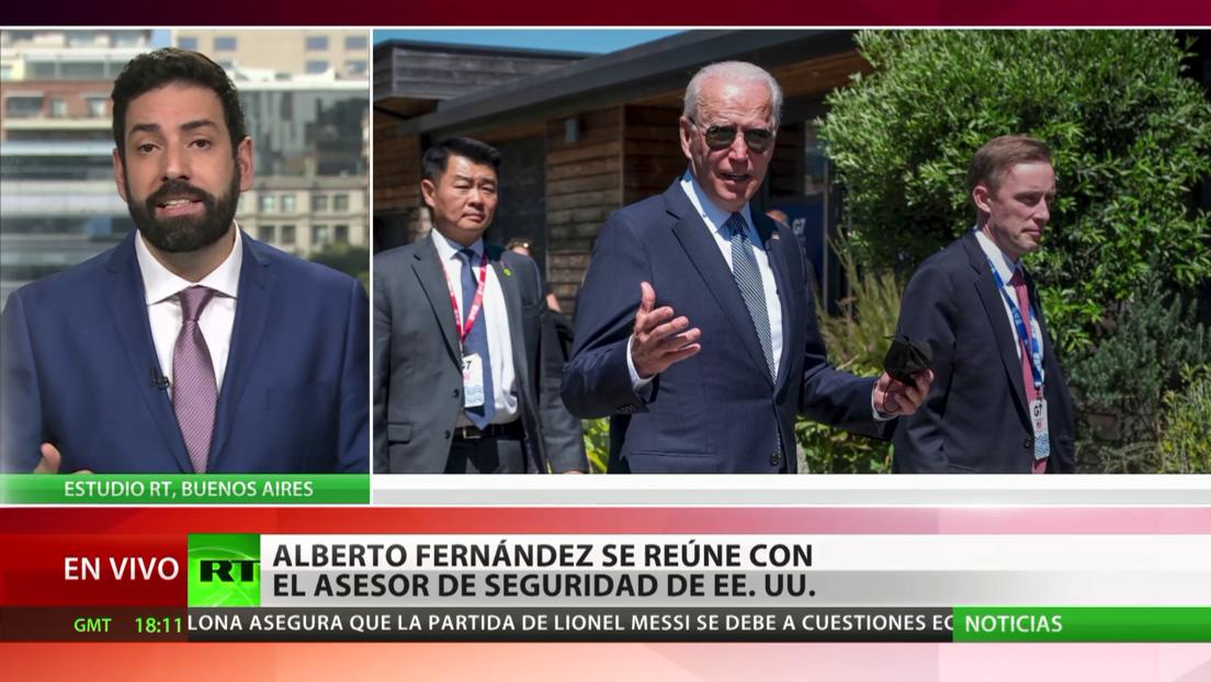 Argentina: Alberto Fernández se reúne con el asesor de seguridad de EE.UU.