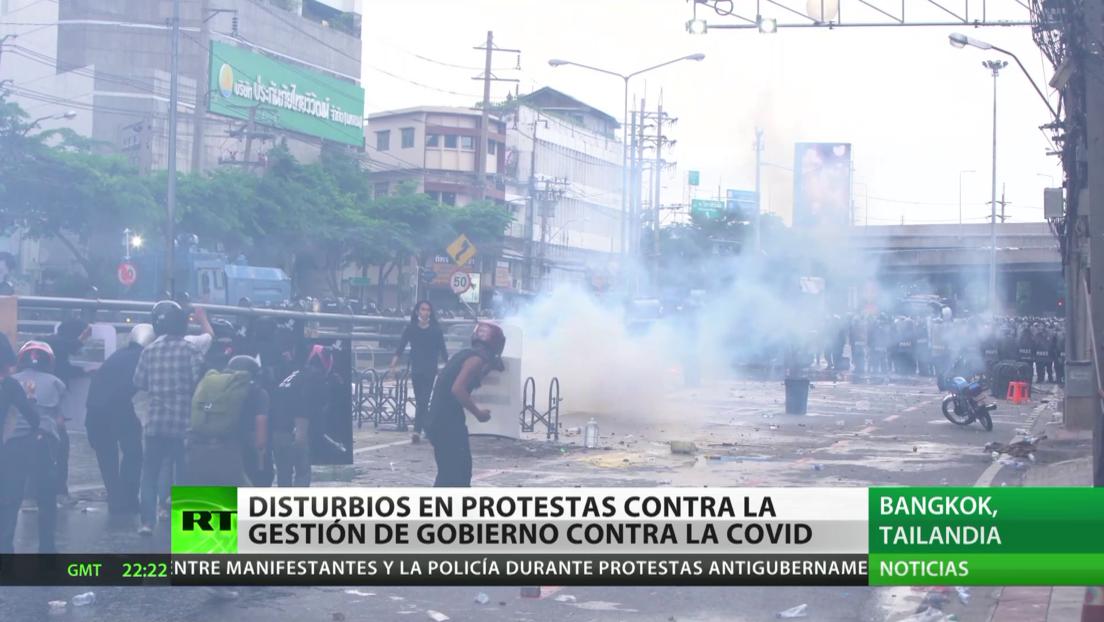 Tailandia: Disturbios durante las protestas contra la gestión del Gobierno durante la pandemia