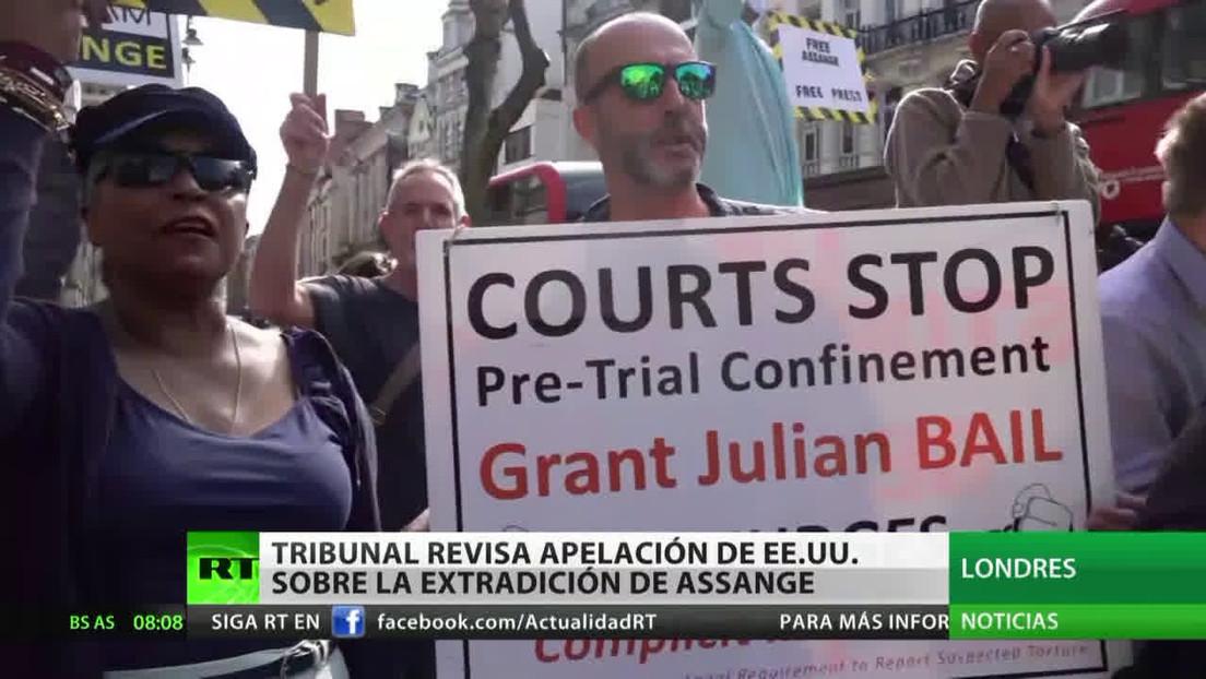 Tribunal británico revisa la apelación de EE.UU. sobre la extradición de Assange