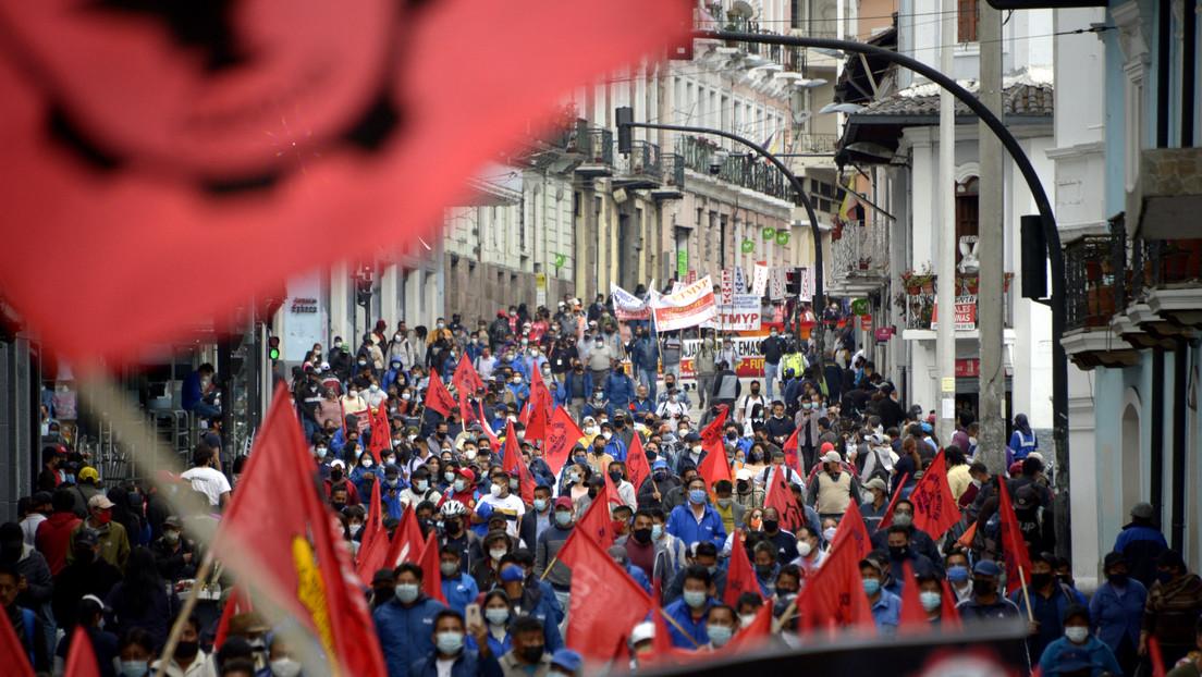 El Gobierno ecuatoriano de Guillermo Lasso enfrenta la primera movilización sindical nacional