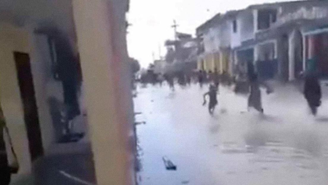 VIDEO: Inundaciones en las calles de Haití, luego de declararse una alerta de tsunami tras el terremoto de 7,2