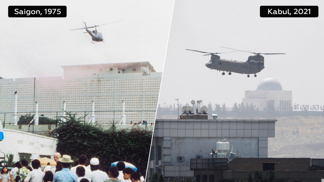 EE.UU. 'regresa' a Saigón: La foto de un helicóptero durante la evacuación de Kabul evoca la huida de Vietnam en 1975
