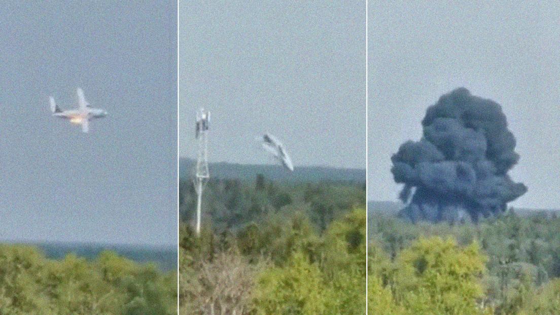 Se estrella un avión de transporte militar en las afueras de Moscú