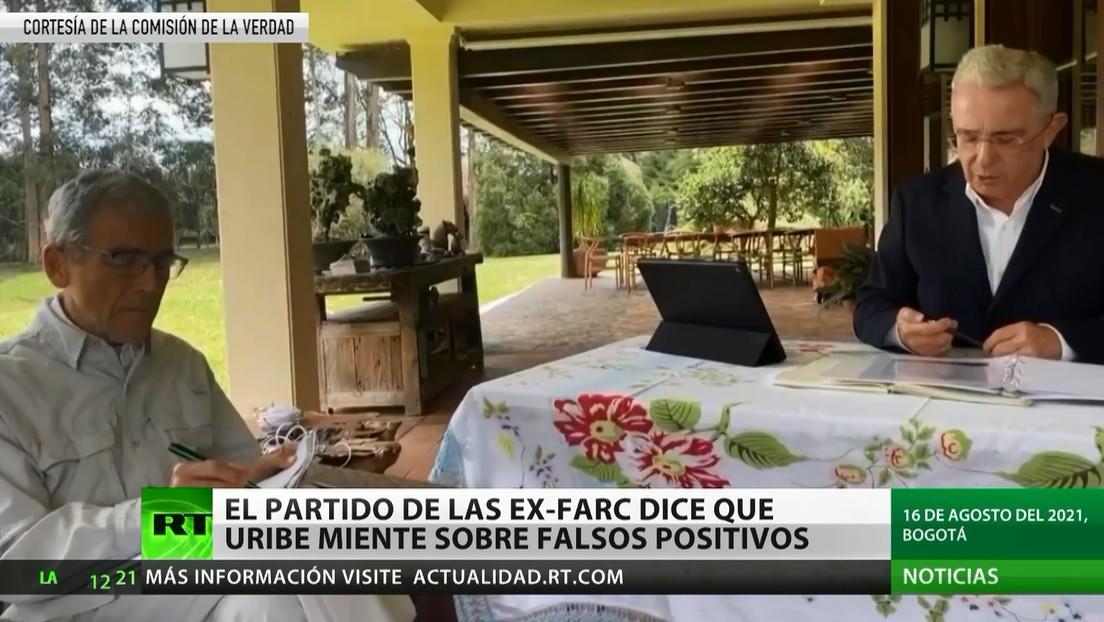 El partido de las ex FARC afirma que Uribe miente sobre falsos positivos
