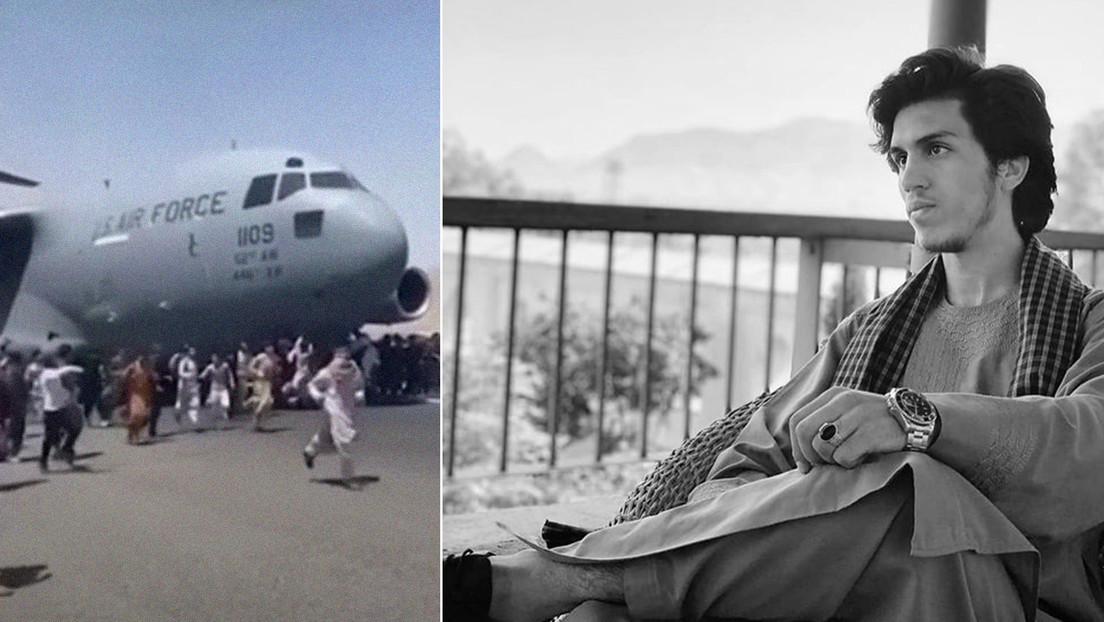 Reportan que los restos humanos hallados en el tren de aterrizaje de un avión de EE.UU. que despegó de Kabul son los de un joven futbolista