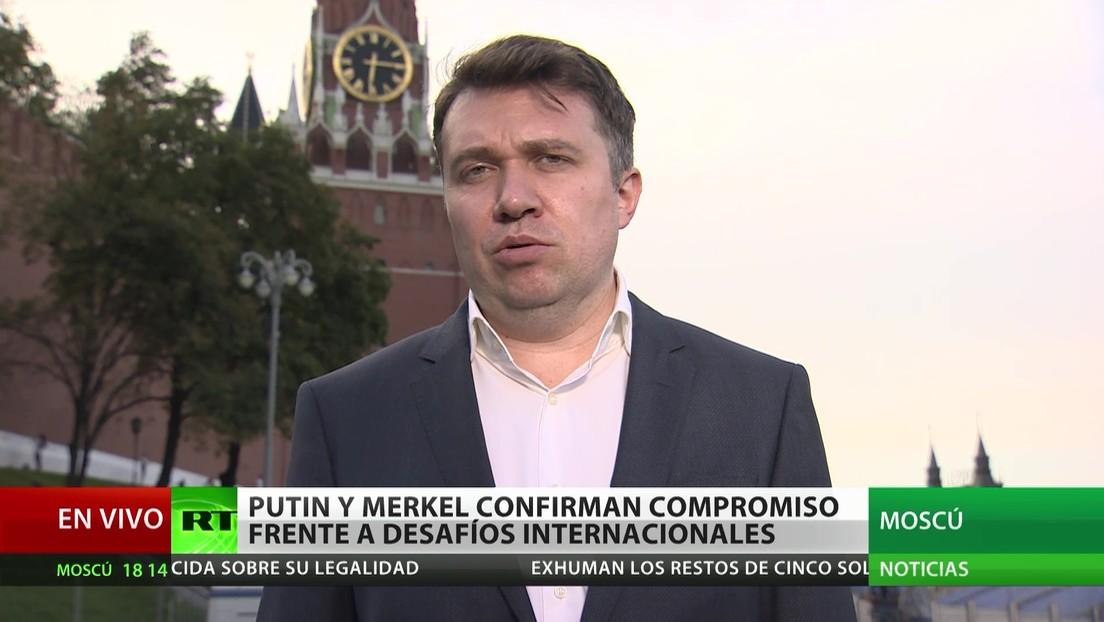 Putin y Merkel reafirman su compromiso frente a los desafíos internacionales