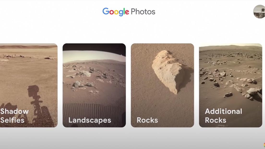 VIDEO: Así sería la cuenta en Google Fotos del róver Perseverance de la NASA
