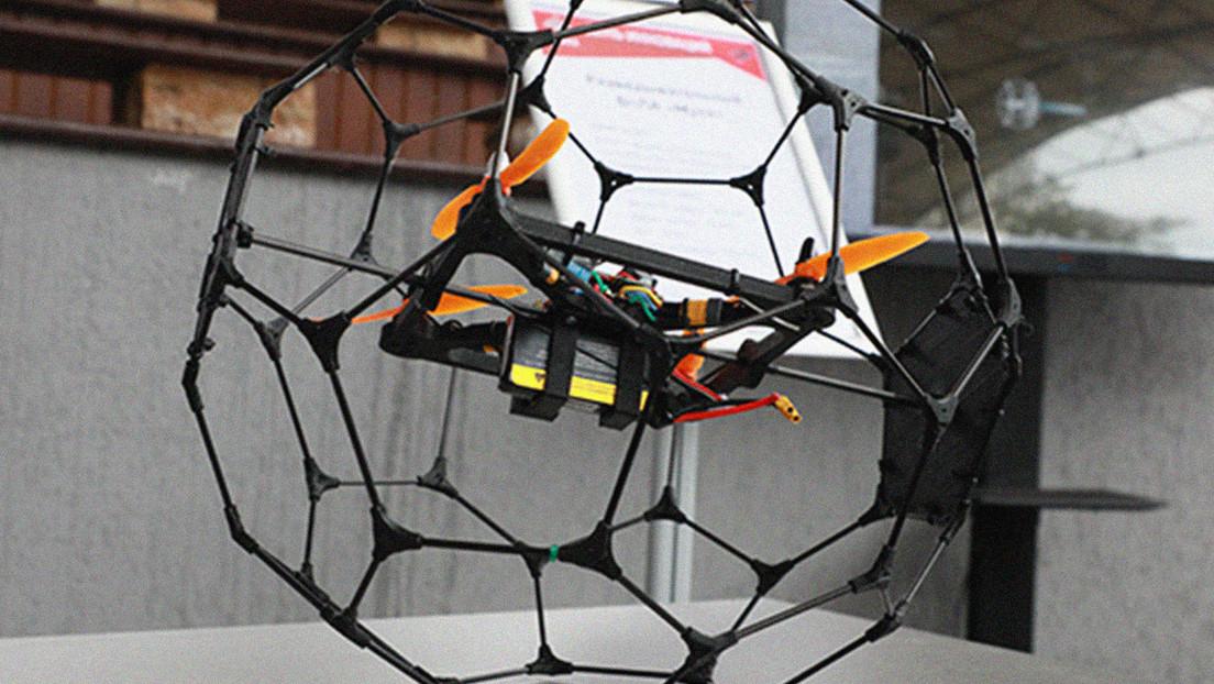 Crean en Rusia un dron 'esférico' para el reconocimiento de espacios reducidos