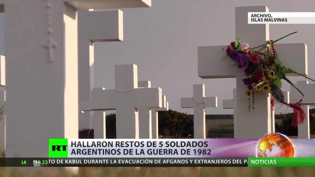 Hallan los restos de cinco soldados argentinos de la guerra de 1982 en las Malvinas