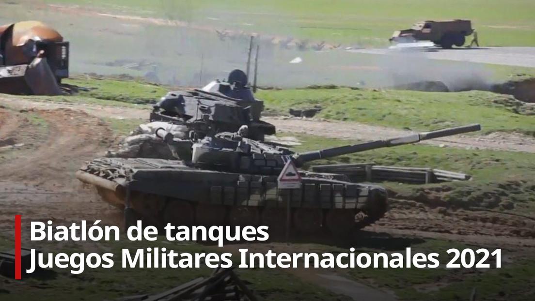 Segunda fecha del biatlón de tanques de los Juegos Militares Internacionales 2021 (VIDEO)