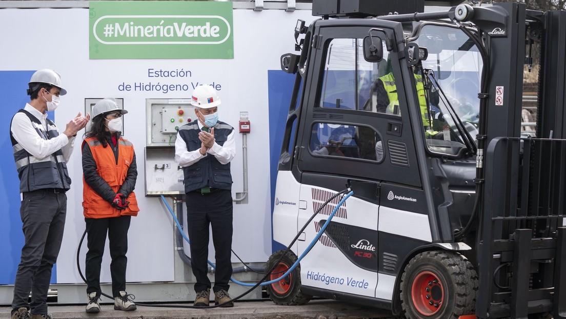 Chile inaugura su primera estación de hidrógeno verde para vehículos de faena minera