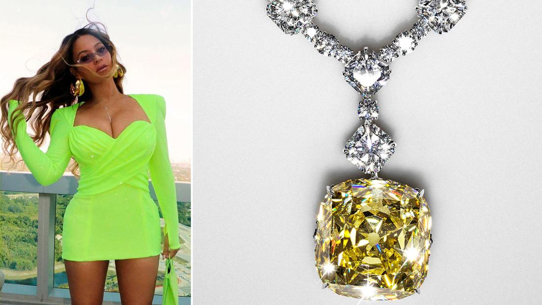 Beyoncé se convierte en la primera mujer negra en lucir el icónico diamante Tiffany y la critican por 'blanquear' el colonialismo de África