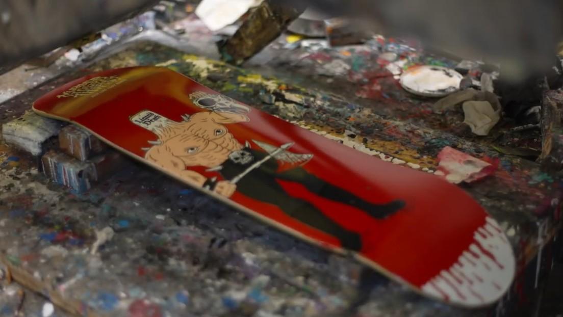 Patinetas con sangre de Tony Hawk: la 'exclusiva' propuesta de una marca de agua estadounidense (VIDEO)