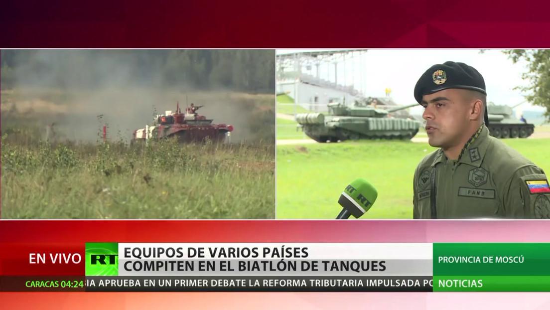 """""""Volvimos con más ganas y más energía"""": oficial venezolano narra su experiencia en el biatlón de tanques en Rusia"""