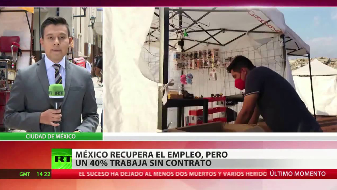 México recupera el empleo, pero un 40 % trabaja sin contrato