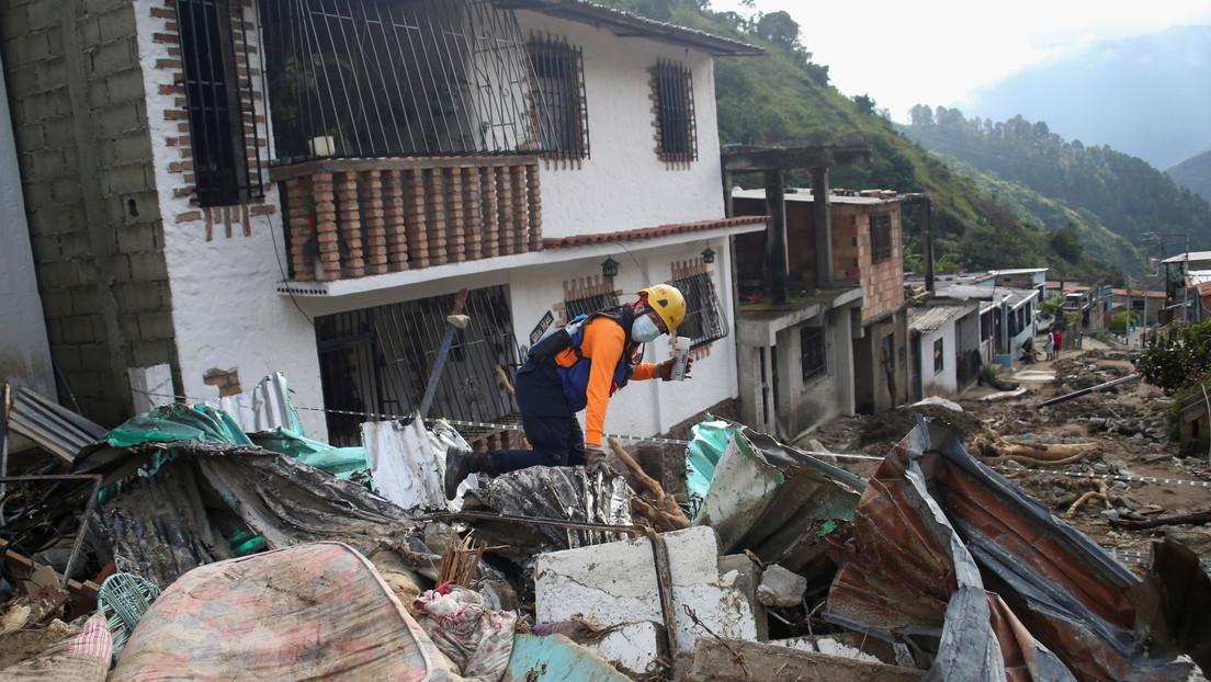 Venezuela intensifica sus esfuerzos para atender la emergencia en Mérida por las fuertes lluvias e inundaciones