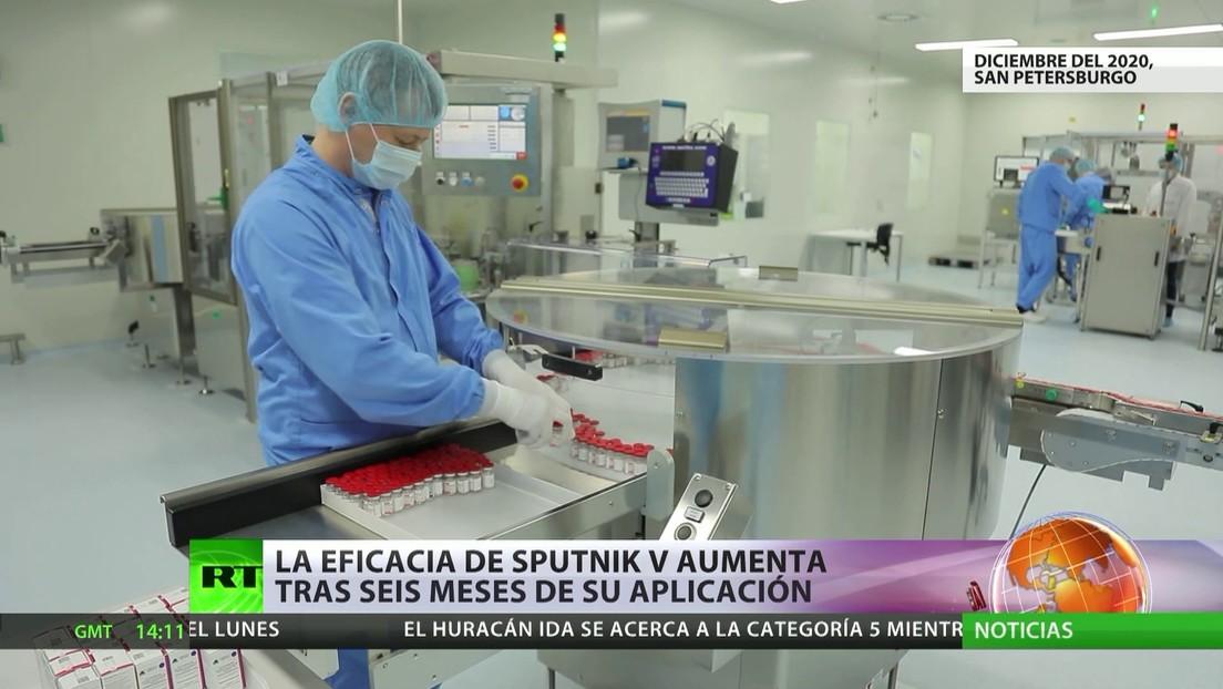 Publican en Argentina un estudio que demuestra que la eficacia de la vacuna Sputnik V aumenta tras seis meses de su aplicación