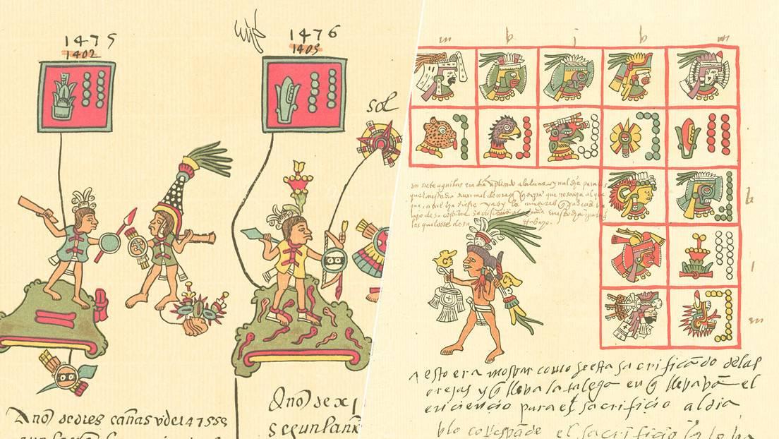 Fragmentos de páginas del Códice Telleriano-Remensis.
