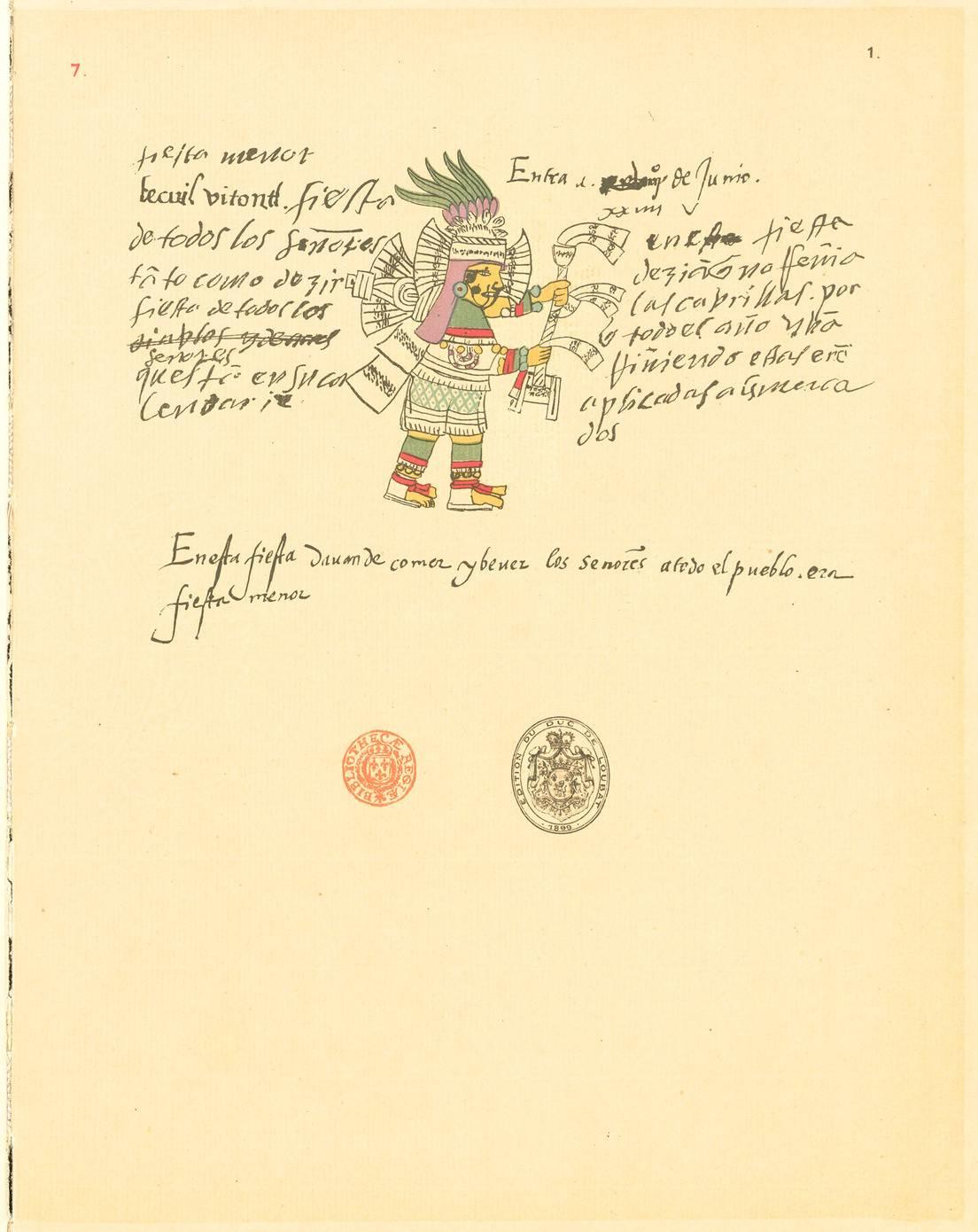 Página del Códice Telleriano-Remensis..