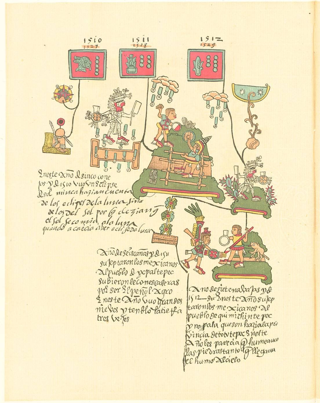 Página del Códice Telleriano-Remensis.