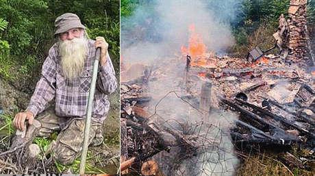 Un incendio destruye la cabaña en la que un ermitaño de 81 años vivió casi 30 años (y de la que querían desalojarlo)