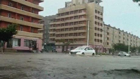 Miles de evacuados en Corea del Norte por lluvias torrenciales